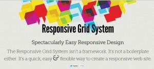RWD, responsive grid system, grid, website design